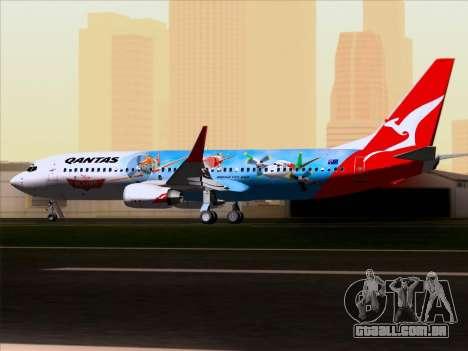 Boeing 737-800 Qantas para GTA San Andreas vista interior