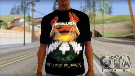 Metallica Master Of Puppets T-Shirt para GTA San Andreas terceira tela