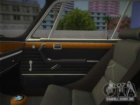 BMW 3.0 CSL 1971 para GTA Vice City vista traseira