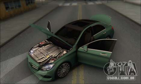 Mercedes-Benz C250 V1.0 2014 para GTA San Andreas vista inferior