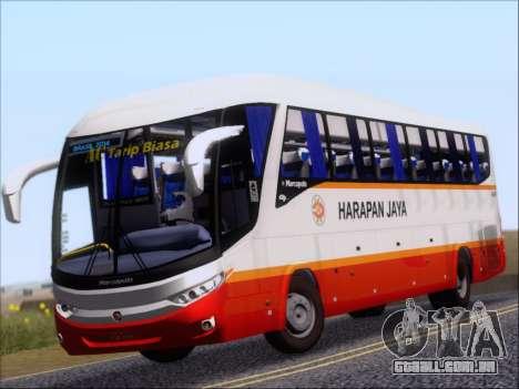 Marcopolo Paradiso 1200 Harapan Jaya para GTA San Andreas esquerda vista