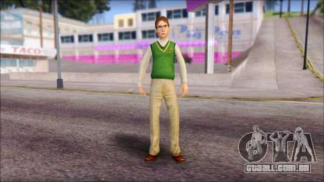 Donald from Bully Scholarship Edition para GTA San Andreas segunda tela
