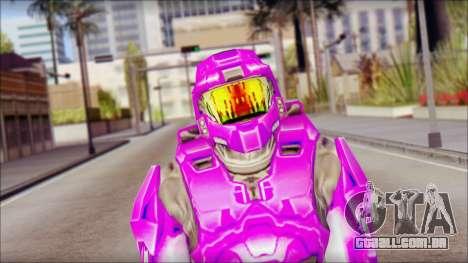 Masterchief Purple from Halo para GTA San Andreas terceira tela