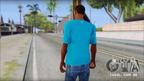 Blue Adidas Shirt para GTA San Andreas segunda tela