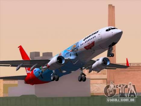 Boeing 737-800 Qantas para GTA San Andreas vista traseira