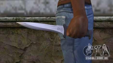 Knife from Resident Evil 6 v2 para GTA San Andreas terceira tela