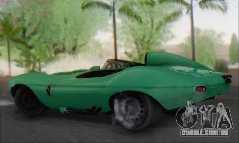 Jaguar D Type 1956 para GTA San Andreas esquerda vista