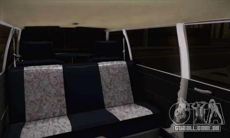 Peykan 1600i Limo para GTA San Andreas traseira esquerda vista