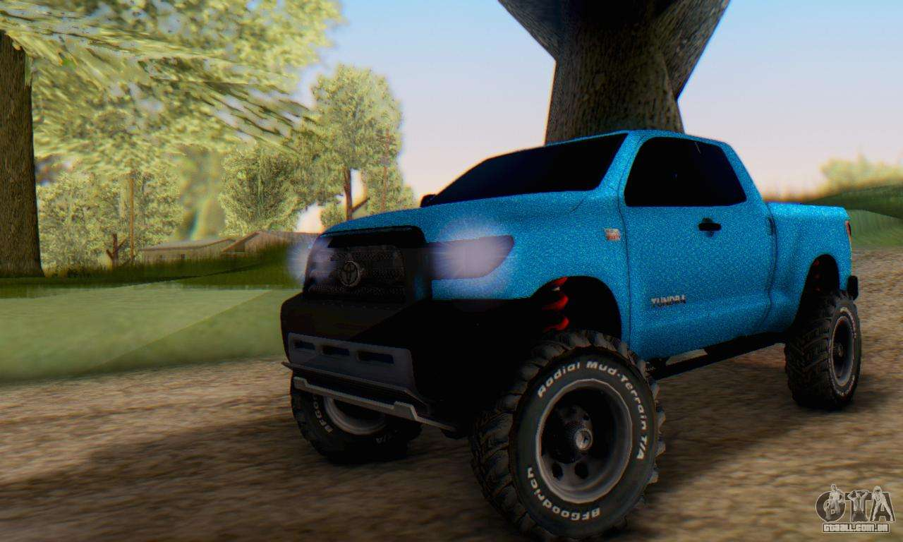Toyota Tundra Off Road Tuning Blue Star Para Gta San Andreas