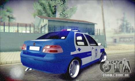 Fiat Albea Police Turkish para GTA San Andreas vista direita