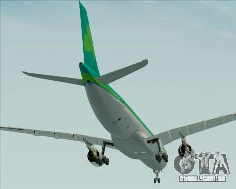 Airbus A330-300 Aer Lingus para GTA San Andreas vista inferior