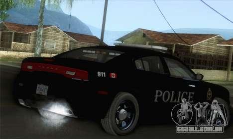 Dodge Charger ViPD 2012 para GTA San Andreas esquerda vista