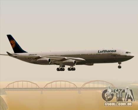 Airbus A340-313 Lufthansa para GTA San Andreas vista inferior
