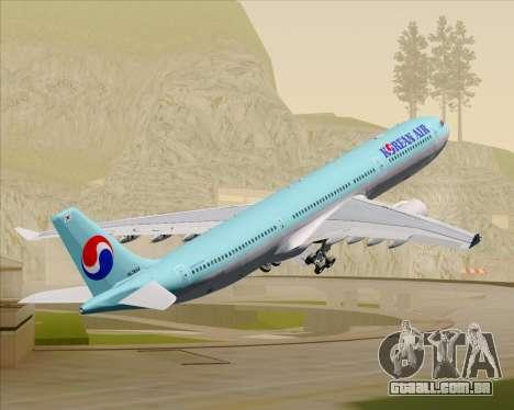 Airbus A330-300 Korean Air para as rodas de GTA San Andreas