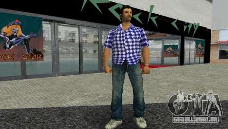 Kockas polo - sotetkek T-Shirt para GTA Vice City segunda tela