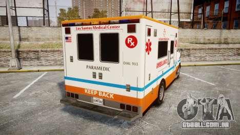 GTA V Brute Ambulance [ELS] para GTA 4 traseira esquerda vista