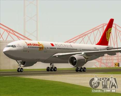Airbus A330-200 Air China para GTA San Andreas esquerda vista