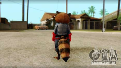 Guardians of the Galaxy Rocket Raccoon v1 para GTA San Andreas segunda tela