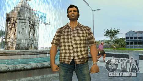 Kockas polo - koszos T-Shirt para GTA Vice City segunda tela