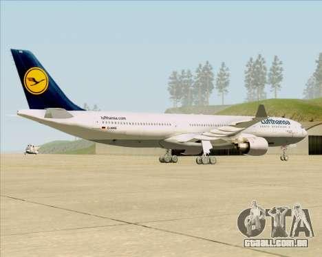 Airbus A330-300 Lufthansa para GTA San Andreas vista direita