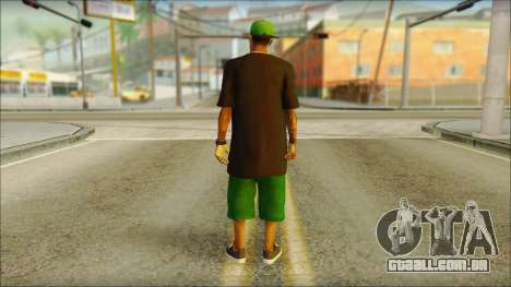 New Grove Street Family Skin v3 para GTA San Andreas segunda tela