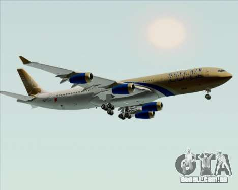 Airbus A340-313 Gulf Air para GTA San Andreas vista interior
