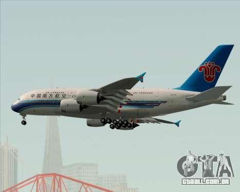 Airbus A380-841 China Southern Airlines para GTA San Andreas vista superior