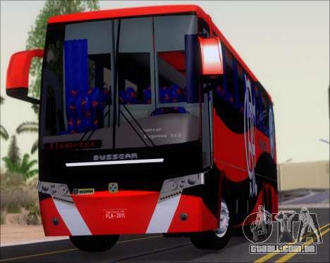 Busscar Elegance 360 C.R.F Flamengo para GTA San Andreas vista traseira