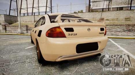Mazda 323f 1998 para GTA 4 traseira esquerda vista