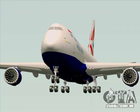 Boeing 747-8 Cargo British Airways World Cargo para GTA San Andreas vista direita