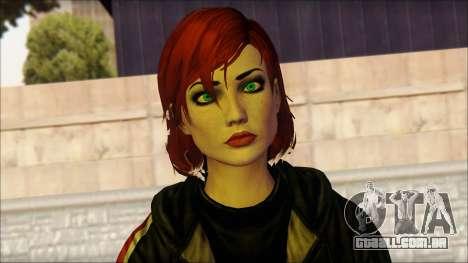 Mass Effect Anna Skin v10 para GTA San Andreas terceira tela