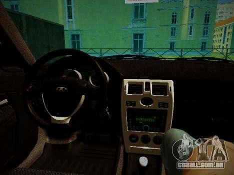 Lada Priora Coupe para GTA San Andreas vista traseira