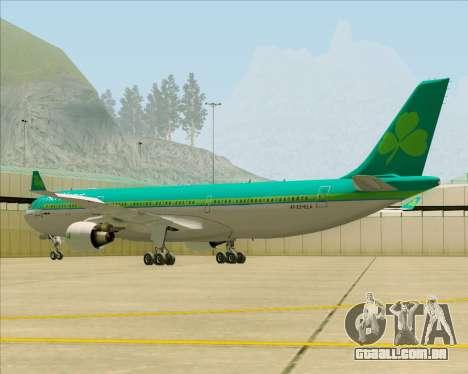 Airbus A330-300 Aer Lingus para GTA San Andreas traseira esquerda vista