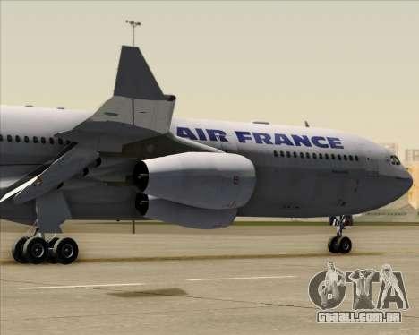 Airbus A340-313 Air France (Old Livery) para GTA San Andreas vista traseira