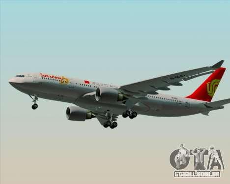 Airbus A330-200 Air China para GTA San Andreas vista interior