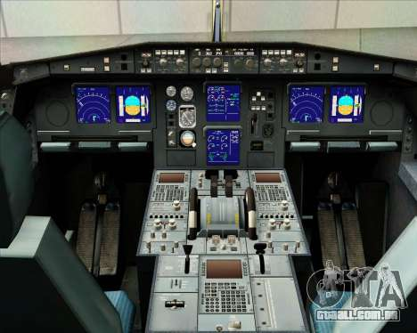 Airbus A340-313 Gulf Air para GTA San Andreas interior
