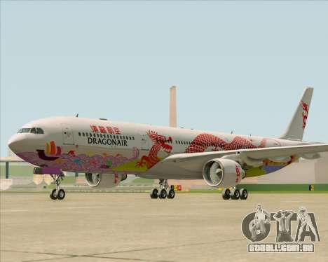 Airbus A330-300 Dragonair (20th Year Livery) para GTA San Andreas esquerda vista