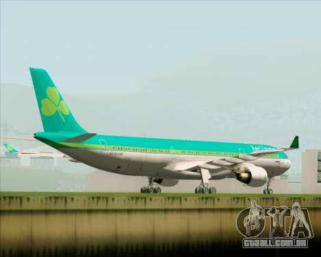 Airbus A330-300 Aer Lingus para GTA San Andreas vista direita