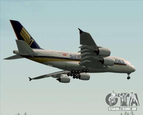 Airbus A380-841 Singapore Airlines para GTA San Andreas vista interior