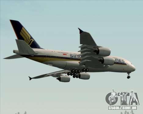 Airbus A380-841 Singapore Airlines para GTA San Andreas vista interior