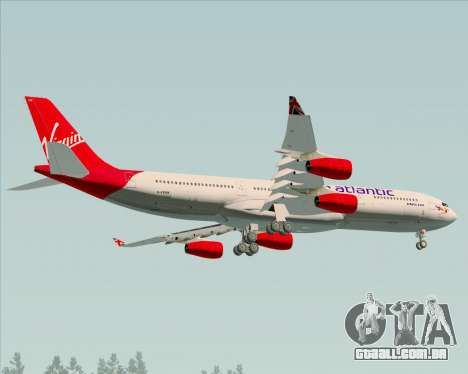 Airbus A340-313 Virgin Atlantic Airways para GTA San Andreas vista interior