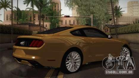 Ford Mustang GT 2015 para GTA San Andreas esquerda vista