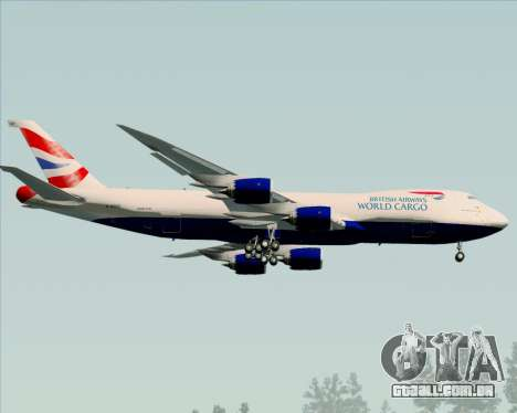 Boeing 747-8 Cargo British Airways World Cargo para GTA San Andreas vista traseira