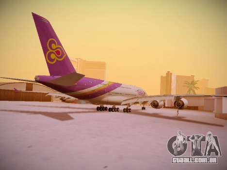 Airbus A380-800 Thai Airways International para GTA San Andreas vista direita