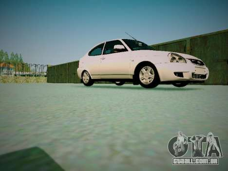 Lada Priora Coupe para GTA San Andreas vista interior