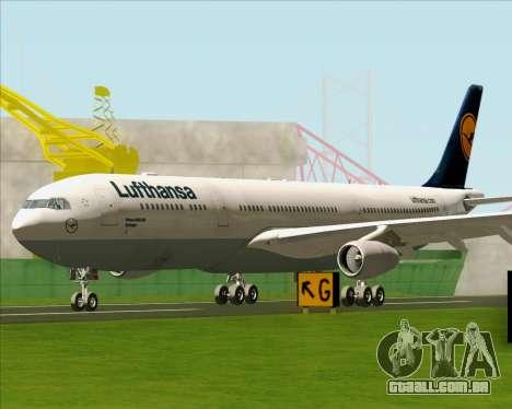 Airbus A340-313 Lufthansa para GTA San Andreas esquerda vista