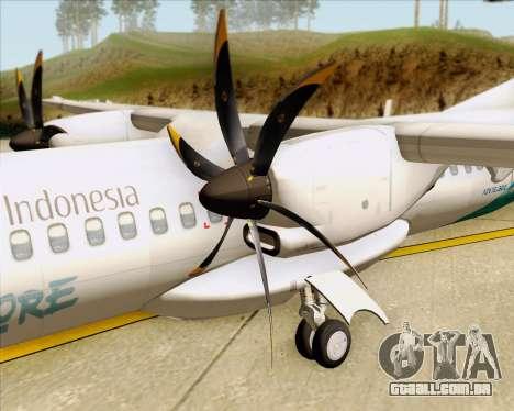 ATR 72-500 Garuda Indonesia Explore para vista lateral GTA San Andreas