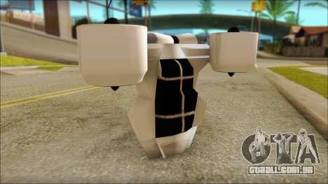 Modern Jetpack para GTA San Andreas por diante tela