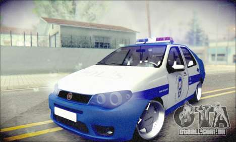 Fiat Albea Police Turkish para GTA San Andreas vista traseira