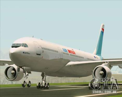 Airbus A330-300 Air Inter para GTA San Andreas esquerda vista